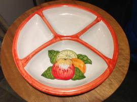 Tapas bord met vakjes Ø27cm (K-gr)
