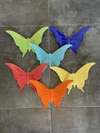 Vlinder blauw 17x23cm
