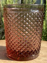 Waterglas roze (Diamond - bicos) / Vista Alegre
