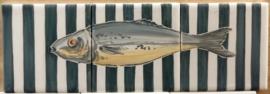 Wandtegeltableau Carapau / serie visjes (3 x 15x15cm)