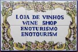 Wandtegeltableau Loja do Vinho (6 x 15x15cm)