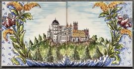 Wandtegeltableau Sintra (castelo) (2 x 15x15cm)