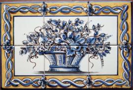 Wandtegeltableau Aveiro (6 x 15x15cm)