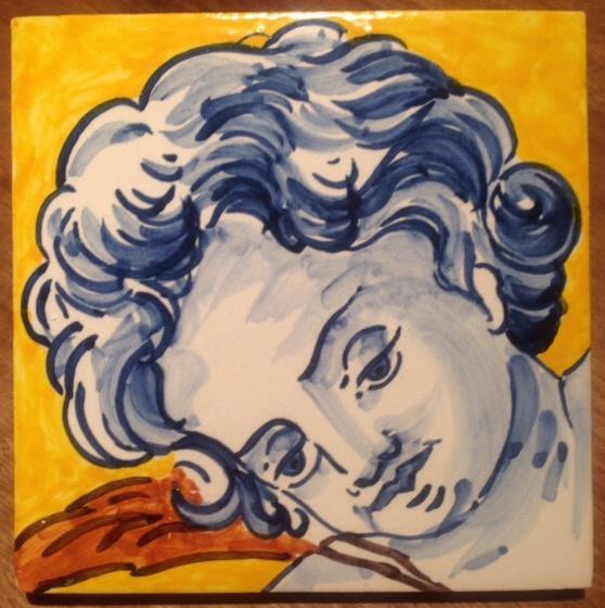 Tegel Engel hoofd -1 (1 x 15x15cm)