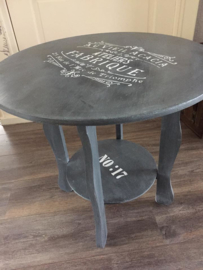 "Brocante vintage stijl salontafel ""old grey"""