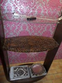 Stoere oud stalen vitrinekast /showkast brocante