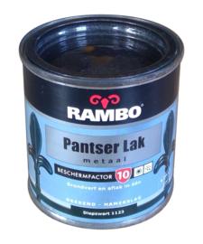 Rambo Pantserlak Metaal Hoogglans - 1123 Diepzwart - 250 ml