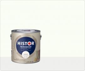 Histor Perfect Finish Muurverf Reinigbaar Mat - ZONLICHT RAL 9010 - 2,5 Liter