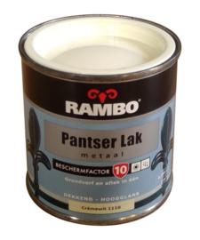 Rambo Pantserlak Metaal Hoogglans - 1110 Cremewit - 250 ml