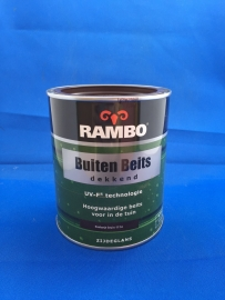 RAMBO Buitenbeits Dekkend - KASTANJE BRUIN 1114 - 750 ml