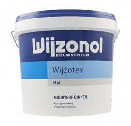 Wijzonol Wijzotex Mat - WIT - 10 Liter