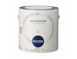 Histor Perfect Finish Muurverf - WIT 6400 - 2,5 Liter