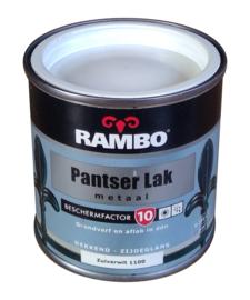 Rambo Pantserlak Metaal Zijdeglans - 1100 Zuiverwit - 250 ml
