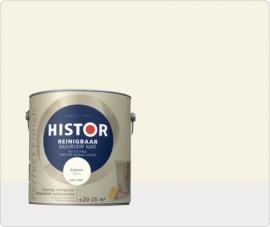 Histor Perfect Finish Muurverf Reinigbaar Mat - KATOEN RAL 9001 - 2,5 Liter