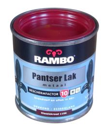 Rambo Pantserlak Metaal Zijdeglans - 1106 Klassiek Rood - 250 ml