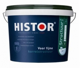Histor Structuurverf Fijn - WIT - 10 Liter