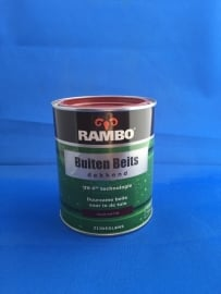 RAMBO Buitenbeits Dekkend - KLASSIEK ROOD - 750 ml