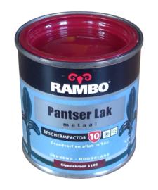 Rambo Pantserlak Metaal Hoogglans - 1106 Klassiek Rood - 250 ml