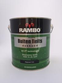 RAMBO Buitenbeits Dekkend - DIEPZWART 1123 - 2,5 Liter