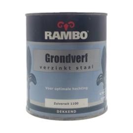 Rambo Grondverf / Primer Voor Verzinkt Staal - Zuiverwit - 750 ml