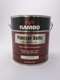RAMBO Pantser Beits Dekkend - ZUIVERWIT 1100 - 2,5 Liter