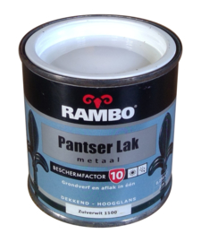 Rambo Pantserlak Metaal Hoogglans - 1100 Zuiverwit - 250 ml