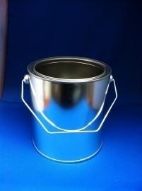 Leeg verfblik met deksel - 2,5 Liter