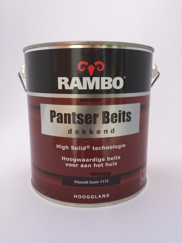 RAMBO Pantser Beits Transparant - KLASSIEK BRUIN 1113 - 2,5 Liter