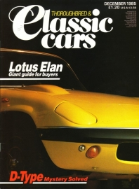 Thoroughbred & Classic Cars - December 1985