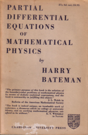 Harry Bateman - Partial Differential Equiations of Mathematical Physics