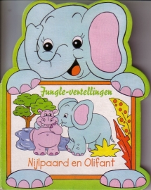 Jungle-vertellingen - Nijlpaard en Olifant [kartonboekje]