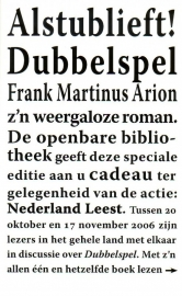 Frank Martinus Arion - Dubbelspel