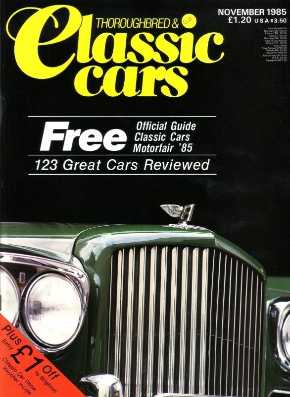 Thoroughbred & Classic Cars - November 1985