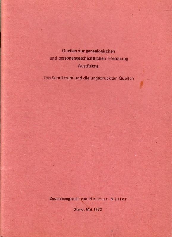 Quellen zur genealogischen und personengeschichtlichen Forschung Westfalens