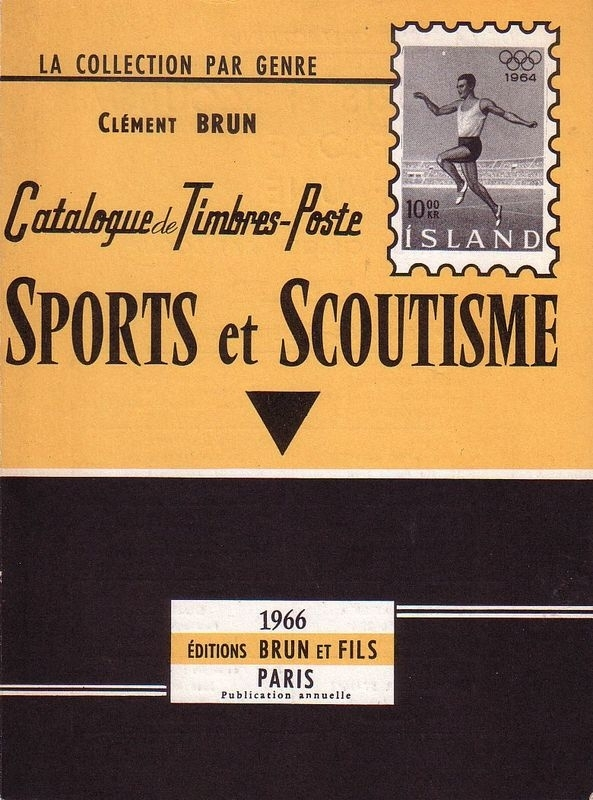 Catalogue de Timbres-Poste Sports et Scoutisme 1966