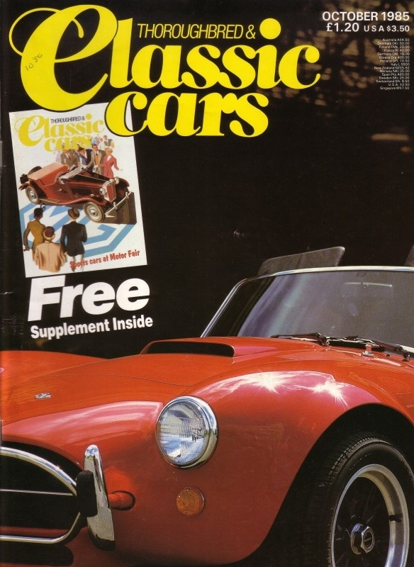 Thoroughbred & Classic Cars - October 1985