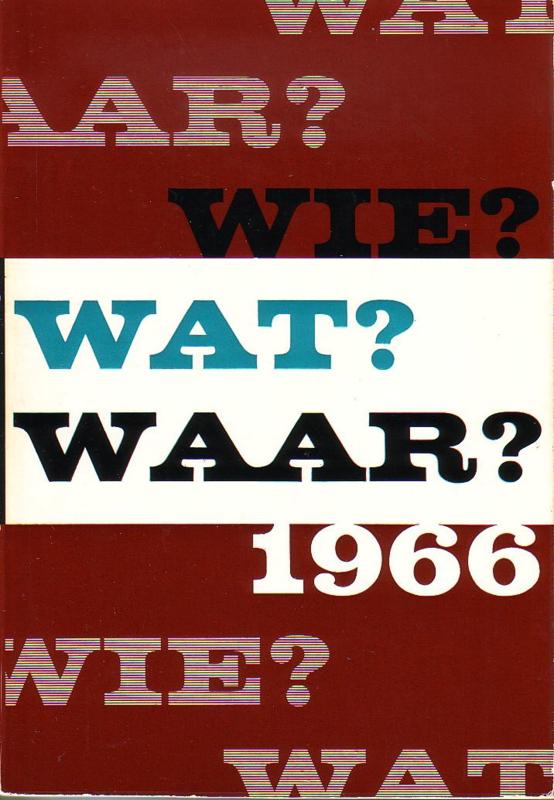 1966 - Wie? Wat? Waar?