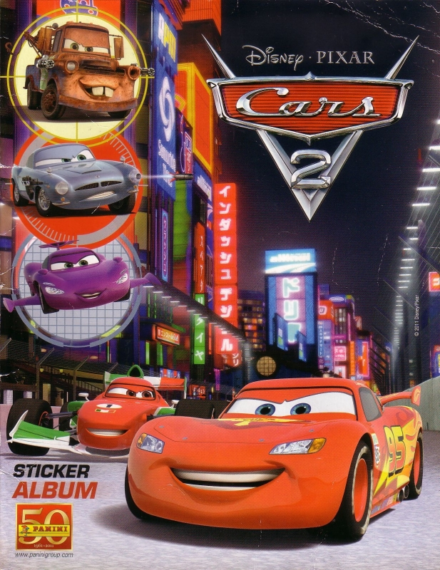 Disney - Cars 2 Stickeralbum [incompleet]