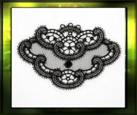 Ornate plaque applicatie set van 2/ zwart