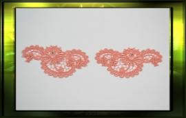 Elegante paisley zalm roze / L+R