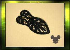 Kleine corset applicatie  / zwart