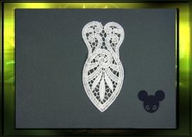 Kleine corset applicatie  / wit