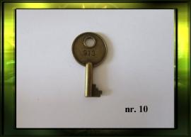 Bronze sleutel nr. 10