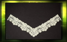 French lace applicatie/ ecru