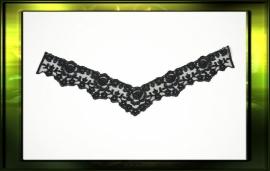 French lace applicatie/ zwart