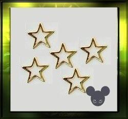 gouden sterretjes set van 5 st