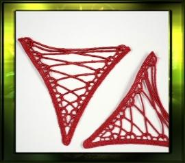 Driehoek applicatie/ rood