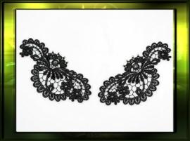 Elegante paisley zwart / L+R