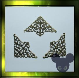 Filigraan hoek ornament /bronze