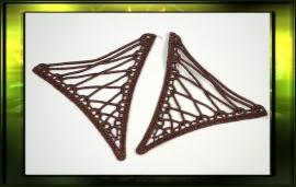 Driehoek applicatie/ bruin